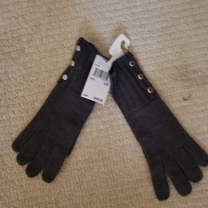 NWT, Michael Kors grey gloves, one size